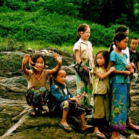 Laos Village Children